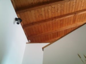Egurrezko zapaila | Techo de madera